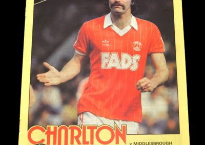 Middlesbrough v Charlton 13.11.1982