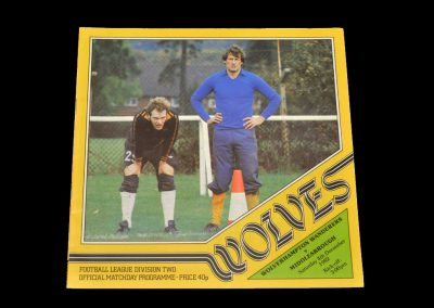Middlesbrough v Wolves 04.12.1982