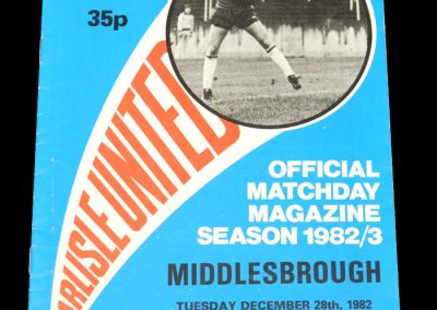 Middlesbrough v Carlisle 28.12.1982