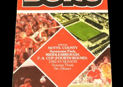 Middlesbrough v Notts County 29.01.1983 - FA Cup 4th Round