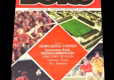 Middlesbrough v Newcastle 05.02.1983