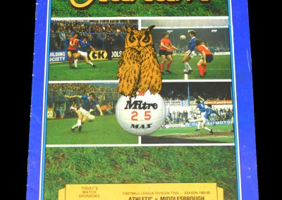 Middlesbrough v Oldham 12.02.1983