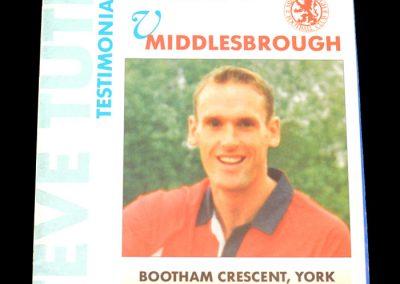Middlesbrough v York 16.07.1997 - Steve Tutill Testimonial