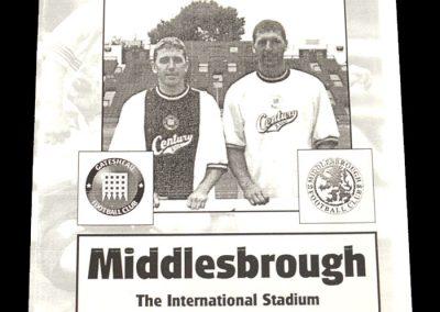 Middlesbrough v Gateshead 25.07.1997 - Friendly