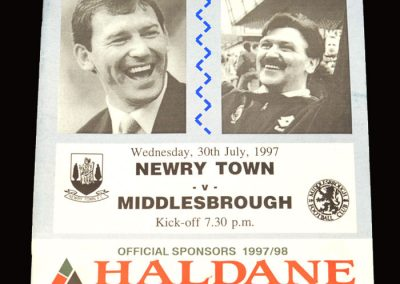Middlesbrough v Newry Town 30.07.1997 - Friendly