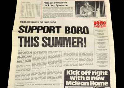 Middlesbrough v Cambridge (Middlesbrough Fanfare) 07.05.1983