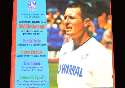 Middlesbrough v Tranmere Rovers 30.08.1997