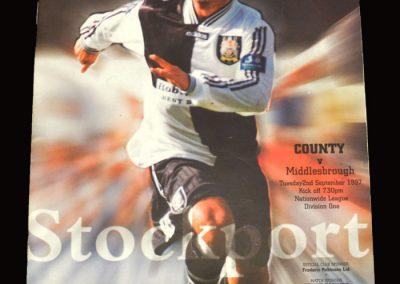 Middlesbrough v Stockport 02.09.1997