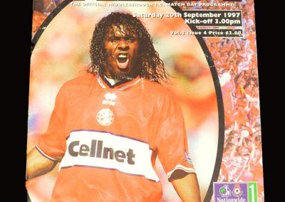Middlesbrough v Birmingham 20.09.1997