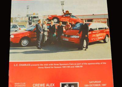 Middlesbrough v Crewe Alexandra 18.10.1997
