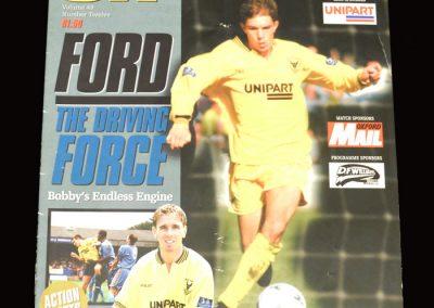 Middlesbrough v Oxford 21.10.1997