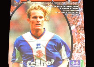 Middlesbrough v Port Vale 25.10.1997