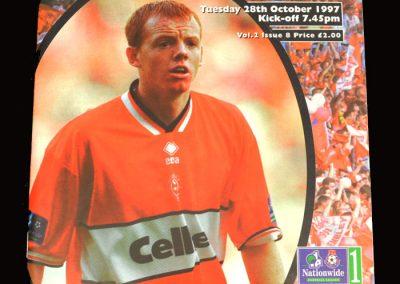 Middlesbrough v Huddersfield 28.10.1997
