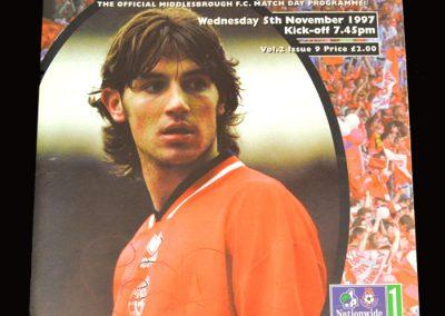 Middlesbrough v Portsmouth 05.11.1997