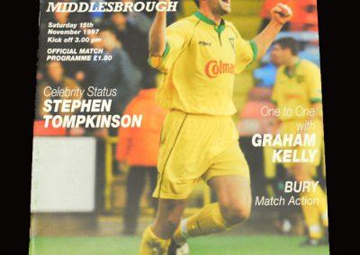 Middlesbrough v Norwich 15.11.1997