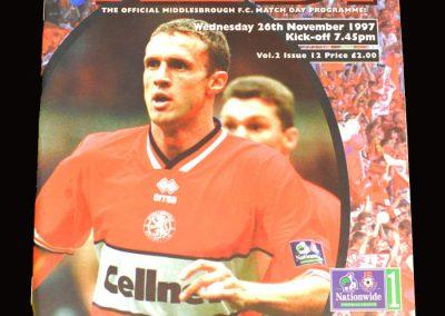 Middlesbrough v Notts Forest 26.11.1997