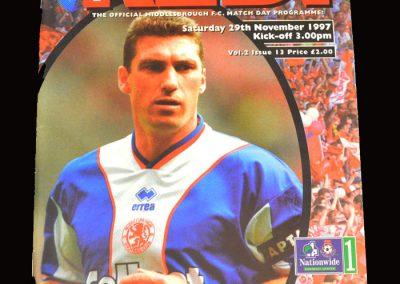Middlesbrough v West Brom 29.11.1997