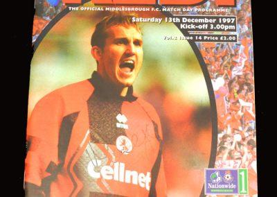 Middlesbrough v Reading 13.12.1997