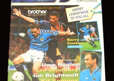 Middlesbrough v Man City 20.12.1997