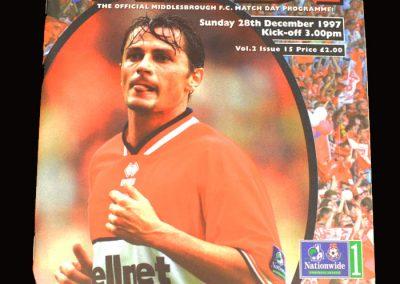 Middlesbrough v Stockport 28.12.1997