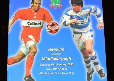 Middlesbrough v Reading 06.01.1998 - League Cup 5th Round