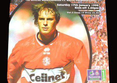 Middlesbrough v Ipswich 17.01.1998