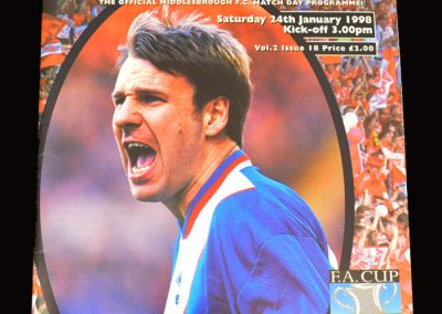 Middlesbrough v Arsenal 24.01.1998 - FA Cup 4th Round