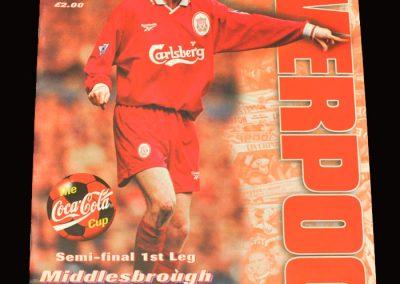 Middlesbrough v Liverpool 27.01.1998 - League Cup Semi Final 1st Leg
