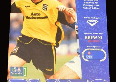 Middlesbrough v Birmingham 07.02.1998