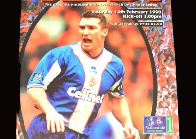 Middlesbrough v Bradford 14.02.1998