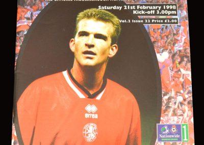 Middlesbrough v Sunderland 21.02.1998