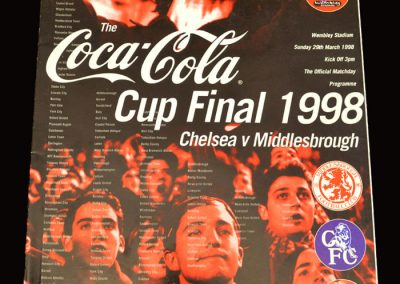 Middlesbrough v Chelsea 29.03.1998 - League Cup Final