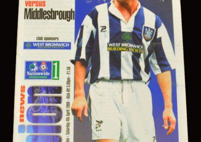 Middlesbrough v West Brom 04.04.1998