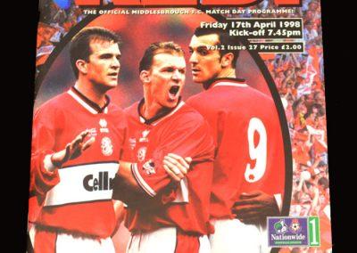 Middlesbrough v Man City 17.04.1998