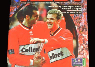 Middlesbrough v Wolves 29.04.1998