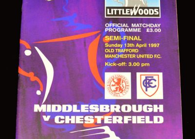 Middlesbrough v Chesterfield 13.04.1997 - FA Cup Semi Final