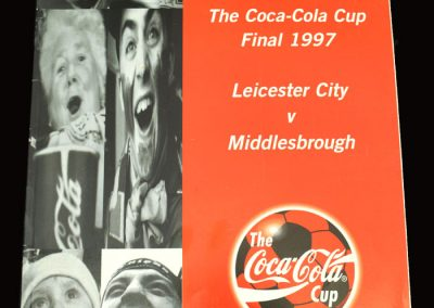 Middlesbrough v Leicester 06.04.1997 - League Cup Final