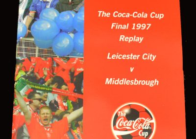 Middlesbrough v Leicester 16.04.1997 - League Cup Final Replay