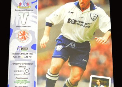 Middlesbrough v Spurs 24.04.1997