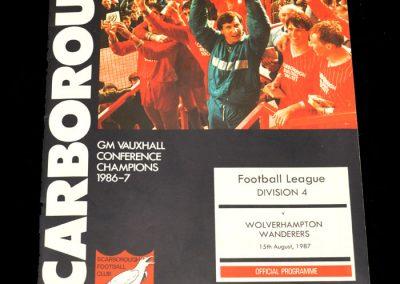 Wolves v Scarborough 15.08.1987