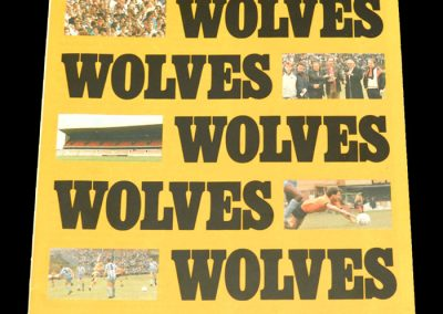 Wolves v Notts County 18.08.1987 - League Cup 1st Round 1st Leg