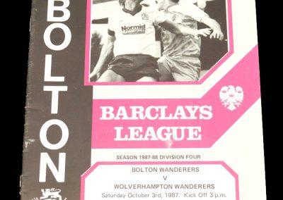 Wolves v Bolton 03.10.1987