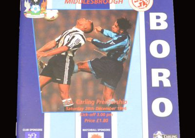 Middlesbrough v Coventry 28.12.1996