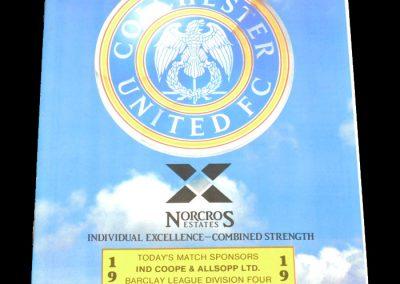 Wolves v Colchester 21.11.1987