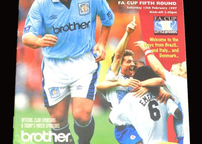 Middlesbrough v Man City 15.02.1997 - FA Cup 5th Round
