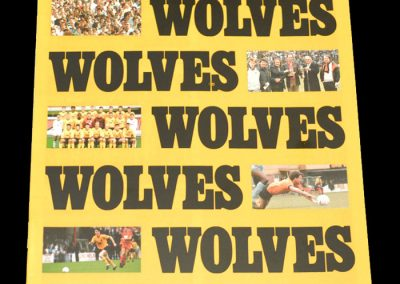 Wolves v Wrexham 28.11.1987