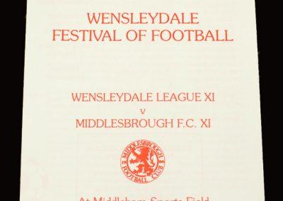 Middlesbrough 11 v Wendleydale League 11 17.07.1996 - Friendly
