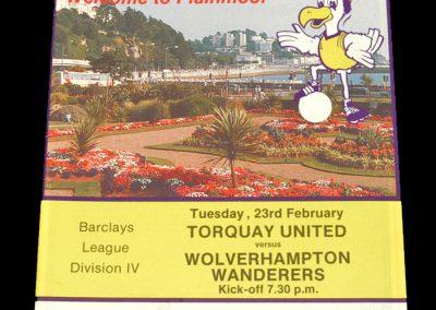 Wolves v Torquay 23.02.1988