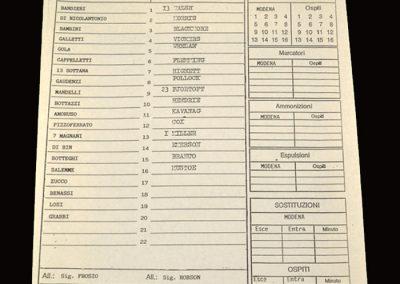 Middlesbrough v Modena 03.08.1996 - Friendly