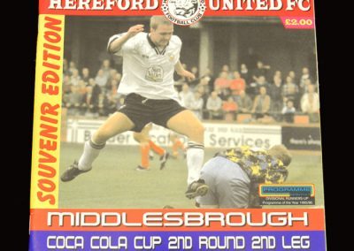 Middlesbrough v Hereford 24.09.1996 - League Cup 2nd Round 2nd Leg